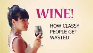 Effi drinks wine