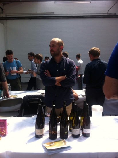Jason Ligas at the RAW Wine Fair in London