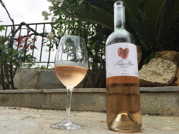 Petite Fleur rose wine by Parparousis